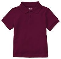Classroom Uniforms Preschool Unisex SS Interlock Polo Burgundy (58830-BUR)