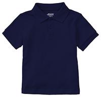 Classroom Uniforms Preschool Unisex SS Interlock Polo Dark Navy (58830-DNVY)