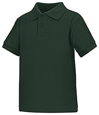 Classroom Uniforms Preschool Unisex SS Interlock Polo Hunter Green (58830-HUN)