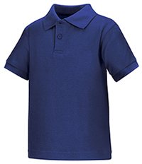 Classroom Uniforms Preschool Unisex SS Interlock Polo Royal (58830-ROY)