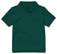 Classroom Uniforms Preschool Unisex SS Interlock Polo SS Hunter Green (58830-SSHN)