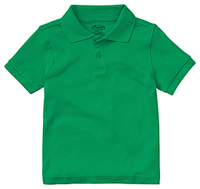 Classroom Uniforms Preschool Unisex SS Interlock Polo SS Kelly Green (58830-SSKG)