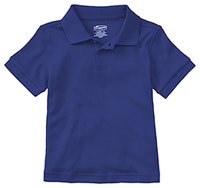 Classroom Uniforms Preschool Unisex SS Interlock Polo SS Royal (58830-SSRY)