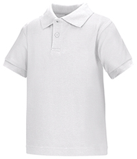 Classroom Uniforms Preschool Unisex SS Interlock Polo White (58830-WHT)
