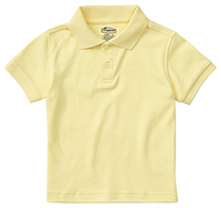 Classroom Uniforms Preschool Unisex SS Interlock Polo Yellow (58830-YEL)