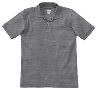 Classroom Youth Unisex Short Sleeve Interlock Polo (58912-HGRY) (58912-HGRY)