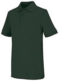 Classroom Uniforms Youth Unisex Short Sleeve Interlock Polo Hunter (58912-HUN)