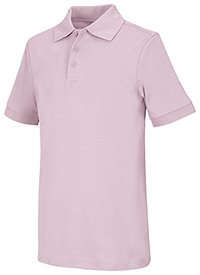 Classroom Uniforms Youth Unisex Short Sleeve Interlock Polo Pink (58912-PINK)