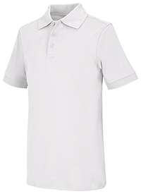 Classroom Uniforms Youth Unisex Short Sleeve Interlock Polo SS White (58912-SSWT)