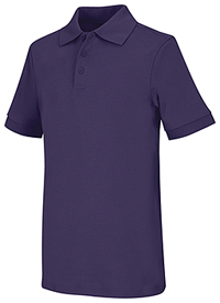 Classroom Uniforms Adult Unisex Short Sleeve Interlock Polo Purple (58914-PUR)