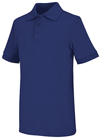 Classroom Uniforms Adult Unisex Short Sleeve Interlock Polo Royal (58914-ROY)