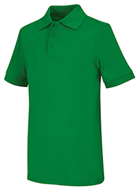 Classroom Uniforms Adult Unisex Short Sleeve Interlock Polo SS Kelly Green (58914-SSKG)