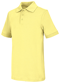 Classroom Uniforms Adult Unisex Short Sleeve Interlock Polo Yellow (58914-YEL)
