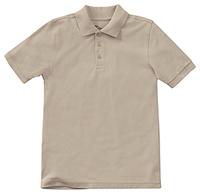Classroom Uniforms Preschool Unisex SS Pique Polo Khaki (58990-KAK)