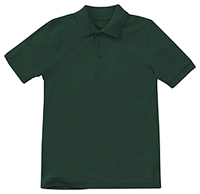 Classroom Uniforms Preschool Unisex Short Sleeve Pique Polo SS Hunter Green (58990-SSHN)