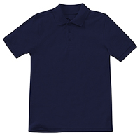 Classroom Uniforms Preschool Unisex Short Sleeve Pique Polo SS Navy (58990-SSNV)
