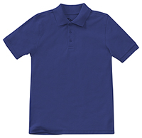 Classroom Uniforms Preschool Unisex Short Sleeve Pique Polo SS Royal (58990-SSRY)
