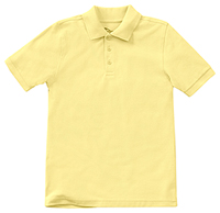 Classroom Uniforms Preschool Unisex Short Sleeve Pique Polo Yellow (58990-YEL)