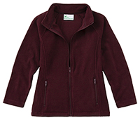 Girls Fitted Polar Fleece Jacket (59102-BUR)