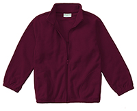 Classroom Uniforms Youth Unisex Polar Fleece Jacket Burgundy (59202-BUR)