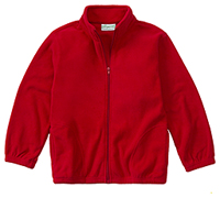 Adult Unisex Polar Fleece Jacket (59204-RED)