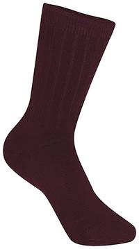 Classroom Uniforms Unisex Rib Crew Socks 3 PK Burgundy (5HM001-BUR)