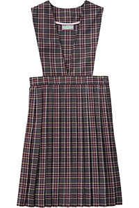 Classroom Uniforms Girls plaid V-front knife pleat Jumper PLAID 43 (5P4622A-P43)