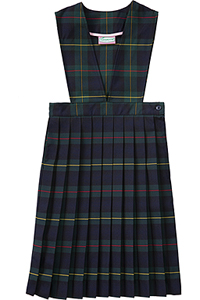Classroom Uniforms Girls plaid V-front knife pleat Jumper PLAID 83 (5P4622A-P83)