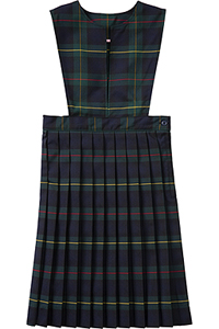 Classroom Uniforms Girl Plaid Slit Front Knife Pleat Jumper PLAID 83 (5P4722A-P83)