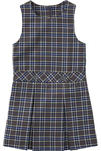 Classroom Uniforms Girls Plaid Drop waist kick pleat jumper PLAID 42 (5P4942-P42)