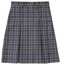 Classroom Uniforms Girls Plaid Kick Pleat Skirt PLAID 42 (5P5342A-P42)