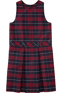 Classroom Uniforms Girls Plaid Drop waist kick pleat jumper PLAID 37 (5PC4943-P37)