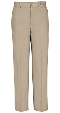 Real School Uniforms Real School Boys Husky Flat Front Pant Khaki (60363-RKAK)