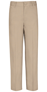 Real School Uniforms REAL SCHOOL Men's Flat Front Pant Khaki (60364-RKAK)