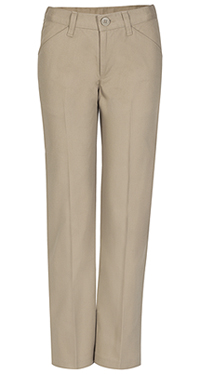 Real School Uniforms REAL SCHOOL Girls Low Rise Pant Khaki (61072-RKAK)