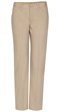 Real School Uniforms Juniors Low Rise Pant Khaki (61074-RKAK)