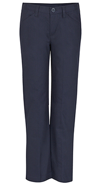Real School Uniforms Juniors Low Rise Pant Navy (61074-RNVY)