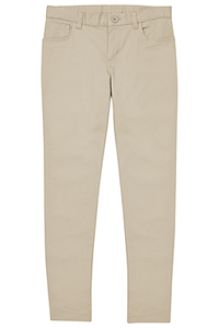 Real School Uniforms Girls 5-Pocket Stretch Skinny Pant Khaki (61332A-RKAK)