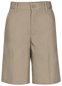 Real School Uniforms REAL SCHOOL Boys Husky Flat Front Short Khaki (62363-RKAK)