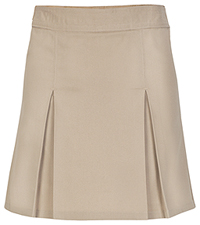 Real School Uniforms REAL SCHOOL Girls Plus Pleated Scooter Khaki (65323-RKAK)