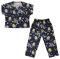 Tooniforms Kids Top and Pant Scrub Set Eye for You (6620C-DPEY)