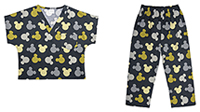 Tooniforms Kids Top and Pant Scrub Set Heads Above the Rest (6620C-MKBV)