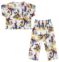 Tooniforms Kids Top and Pant Scrub Set Mickey Mouse Club (6620C-MKUB)