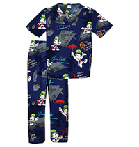 Tooniforms Kids Top and Pant Scrub Set Jiminy Cricket (6620C-PIJC)