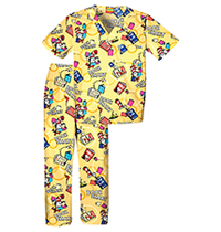 Tooniforms Kids Top and Pant Scrub Set Book Smart (6620C-SEOO)