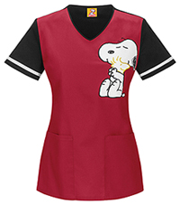 Tooniforms V-Neck Top Hug Me Snoopy Black (6792-PNHG)