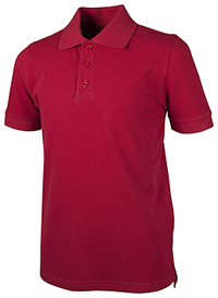 Real School Uniforms Unisex Youth S/S Pique Polo Red (68112-RRED)