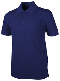 Real School Uniforms Unisex Youth S/S Pique Polo Royal Blue (68112-RROY)