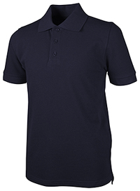 Real School Uniforms Unisex Adult S/S Piuqe Polo Navy (68114-RNVY)