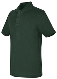 Real School Uniforms REAL SCHOOL Youth Unisex S/S Pique Polo Hunter (68322-RHUN)